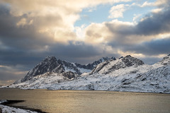 Just how good it can get? (OR_U) Tags: 2017 oru norway lofoten landscape mountains sea fjord sunset clouds snow ice winter