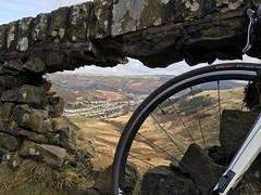 """Are you serious?!"" (AngharadW) Tags: bike classicclimb welshclassicclimb road mountain wall decay clouds spoke grass cwmparc rhondda angharadw wales cymru"