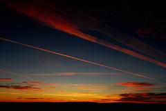 Sunset Trails (Sean Sweeney, UK) Tags: brighton sunset sky sun landscape southdowns south downs nikon d60 dslr