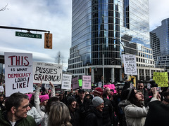 IMG_0290 (justine warrington) Tags: womens march womensmarch womensmarchonwashington washington pink pussy hats pinkpussyhat protest signs trump 45th presidential election january 21st 2017 potus resist resistance is fertile