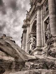 Fontana di Trevi (Marck Minieri) Tags: fontana water latin classics classic italy italia anticarome ancientrome ancient roma rome bw