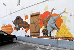 Street Art in Warsaw, Poland (Esther Spektor - Thanks for 12+millions views..) Tags: art painting wall street car window warsaw poland graffiti white yellow orange brown black animals estherspektor canon