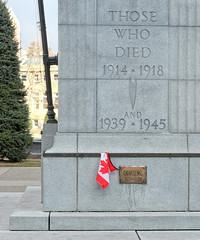 Battle of Vimy Ridge, 100th Anniversary (Sherlock77 (James)) Tags: calgary cenotaph canadianflag vimyridge