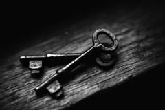 Skeletons (Kapuschinsky) Tags: bnw blackandwhite monochrome fineart keys stilllife sonyalpha minolta pairs texture old vintage rustic retro skeletonkeys kapuschinsky emotive moody naturallight macro closeup