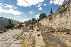 "Delphi, The Sacred Way – IX – The Athenians' Stoa (egisto.sani) Tags: ""early classical period"" primo classico periodo "" athenians stoa"" ""stoa degli ateniesi"" stoa portico phocis focide delphi delfi ""archaeological museum"" ""museo archeologico"""