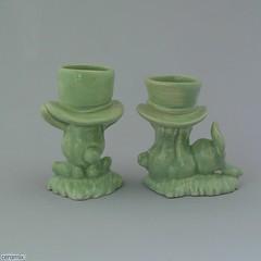 ceramix.co.za- Back of 2 Top Hat Bunny Egg Cups Green (ceramix.co.za) Tags: ceramix handmade madeinsouthafrica easter mintgreen glazed bunnyeggcups eggcups