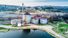 Genesee Feed Mill (Sharky.pics) Tags: waukeshacounty usa 2017 genesee wisconsin drone aerialphotography aerial geneseefeedmill djimavicpro unitedstatesofamerica april waukesha unitedstates us
