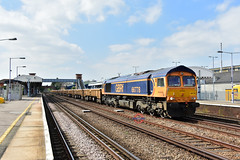 6Y36 66778 Grain Foster Yeoman - Sevington Sidings (Adam McMillan Railway Photography) Tags: 66778 seen passing paddock wood with 6y36 grain foster yeoman sevington sidings loaded ballast for use hobc