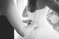 Finishing Touches (Jon and Rach   Photography) Tags: sony alpha a99ii alpha99ii a99mark2 a99mk2 fullframe sonyalpha99ii sonypro alphamount amount arlingtonwa carlzeiss cz zeiss zeissglass ze wedding bride gettingmarried gettingready tyingup dress weddingprep bw blackandwhite blackwhite backlit variosonnar163528za sal1635f28z sal1635z wide angle wideangle ultrawideangle