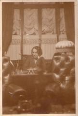 at home (Ferencdiak) Tags: reading woman home lamp curtain table vintage hungary függöny nő asztal lámpa fotel