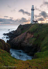 Pigeon Point Lighthouse, Pacific Coast Highway, California (Paul Rescigno) Tags: pigeonpointlighthouse pigeonpoint lighthouse slowcoast pescadero santacruz davenport halfmoonbay ocean pacifichighway route1 cabrillo pacfiic coast coastline sunset sanmateocounty pigeon point
