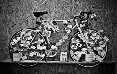 Sustainability (bladeshunner1) Tags: sustainability environmental bike cycle wood card blackandwhite blackwhite noir retro mono