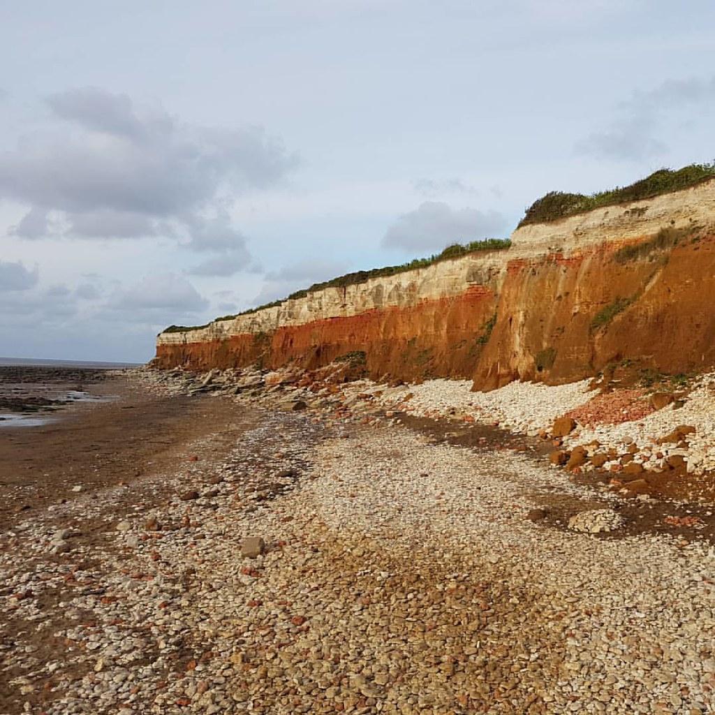 The #cliff at #hunstanton #colours #rocks