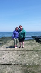 Me & Paul, on the jetty (TheFairView) Tags: oceangrove beach jerseyshore seashore sarahandpaul