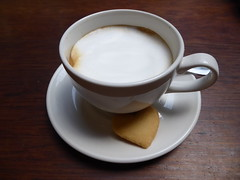 Double espresso macchiato (prondis_in_kenya) Tags: kenya nairobi hotdryseason coffee macchiato espresso shortbread biscuit javahouse saritcentre