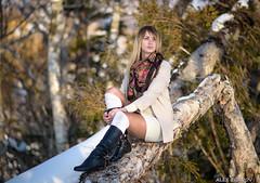 Маша (alex.eganov) Tags: portrait nikon girl sakhalin russia snow sunset d750 85mm f18 девушка портрет сахалин