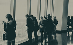 Some many different views (Majka Kmecova) Tags: newyork newyorcityscape observatory wtcobservatory wtc city cityphotography bw people view usa us unitedstatesofamerica ny nyc lowermanhattan manhattan blackandwhite photo newyorkphoto photography