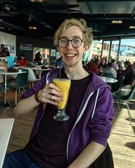 Happy Birthday to JJ (Jainbow) Tags: jj spinnakertower gunwharfquays cafe smoothie jainbow portsmouth