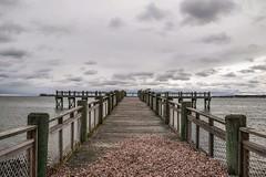 Gulf Beach in Milford CT (limeyak) Tags: beach dock leadinglines gulfbeach milfordct ct newengland darkskies clouds storm ocean nikon nikond3300 d3300 tamron tamron18200