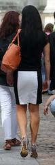 184 (SadCire) Tags: woman frau femme mujer girl calves legs miniskirt minidress skirt heels street candid sexy