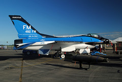 F-16 in Florida Makos 55th Anniversary Scheme (Infinity & Beyond Photography) Tags: usaf f16 jet fighter florida makos 55th anniversary scheme 10th air force homestead arb reserve base aircraft afrc 482nd wing shark
