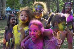 colourful girls (madisonrogers) Tags: colour color smiling girls fun summer hamiltonontario happy gage park midsummersdream chalk paint