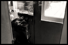 Tokyo Metropolitan Area: Impressions of a great city (Matthias Harbers) Tags: nikon 1 v3 dxo photoshop test chiba japan historic bw black white 6713mm nikkor outdoor architecture elements topaz labs omot tokyo metropolitan living home bike monochrome city street life impression blackandwhite photo border kashiwa tobuurbanparkline tobu train moving railway flickraward