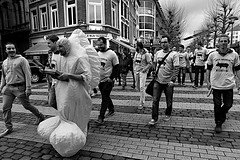Penis for a day (Bim Bom) Tags: penis man disguise bachelorsparty liège wallonia belgium bw streetlife streetphoto