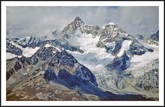 Switzerland's Penine Alps from the Stockhorn - 1994 (sjb4photos) Tags: switzerland suisse schweiz zermatt gornergrat peninealps stockhorn