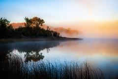 untitled (Reflex645) Tags: landsape fall autumn lake water mist orange outdoor nature