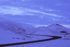 s-curves (Andy Kennelly) Tags: road curves iceland film slide 35mm snow winter february
