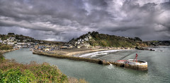 Looe and the Banjo Pier, Cornwall (Baz Richardson (trying to catch up again!)) Tags: cornwall looe looeriver smalltowns markettowns rivers cliffs cornishcoast banjopierlooe