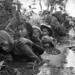 Vietnam War 1966 - Civilians - Thường dân ẩn nấp tránh đạn tại Bào Trai, Tỉnh Hậu Nghĩa