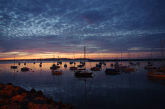 D13036.  Brixham Sunset. (Ron Fisher) Tags: brixham southdevon devon westcountry westofengland torbay england gb greatbritain uk unitedkingdom europe pentax pentaxkx coast devoncoast sea sunset water ocean sky cloud boats evening harbour