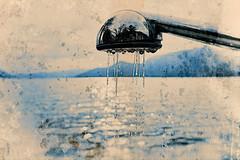Filling The Lake (macplatti) Tags: xt10 xf1024mmf4rois lake fill fuellen brause shower water blue joke humor blau wasser lagomaggiore caminhotelcolmegna colmegna lombardia italy ita