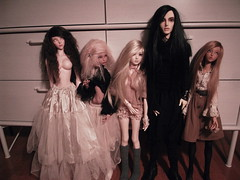Picture of my some of my dolls after restyling. (bunnylungs) Tags: soom deneb lillycat ellana supia rosy souldoll isabel