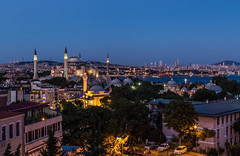 I S T A N B U L (emilqazi) Tags: istanbul turkey hagia sophia aya sofya blue hour city cityscape history architecture view sky skyscrapers travel bosporus sea waterfront water temple church mosque monument religion sultan ahmet