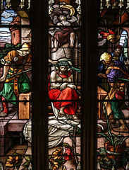 Good Friday II - Jesus is Crowned with Thorns (Lawrence OP) Tags: biblical passion stainedglass crown thorns jesuschrist stmarys newhaven