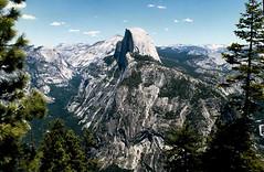 Half Dome 887 (Bill in DC) Tags: ca california 1991 film canon eos660 kodacolor smp3 yosemite yosemitenationalpark