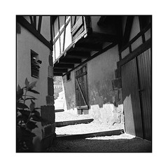 passage • dambach, alsace • 2016 (lem's) Tags: zenza bronica passge houses maisons shades ombres medieval middle gae dambach alsace