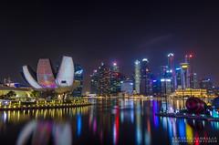Marina Bay Singapore (kenneth gambalan) Tags: kenneth gambalan photography marina bay singapore landscape night photoshoot helix bridge skyline central business district nikon travel asia