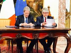 Cerimonia di firma del memorandum d'intesa sul Rei (Acli nazionali) Tags: robertorossini povertà paolo gentiloni giuliano poletti rei