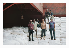 015_22 (jimbonzo079) Tags: analog 135 35mm negative people portrait cargo hold discharging outfall hooghly river bay bengal india asia mv anchorage bulk carrier bulker urea nepal greek hellas marine maritime naval utm work industry industrial trip travel world view vintage old film art steel life colour color 2015 ocean sea ship vessel boat onboard interior new workers indian heavy crane scan canon ae1 fd 50mm f18 lens slr portra160 newportra160 kodakportra160 newkodakportra160 kodak portra 160