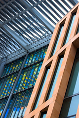 Graphic colour (in explore 4-5-17) (Barrie T) Tags: architecture lines colour graphic kings cross london