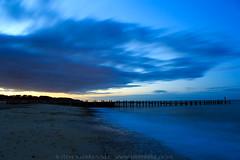 Blue hour at Lowestoft. (Steve Moore-Vale) Tags: blue hour lowestoft suffolk sunset clouds longexposure sea groyne beach