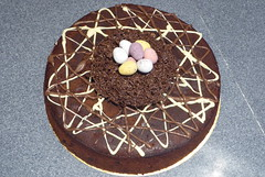 Easter chocolate rum and raisin cake (paulafunnell) Tags: cake easter