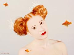 Shoot for Hair Salon (evelefay) Tags: portrait portraitphotography red hair model digital art retouching make up canon prime