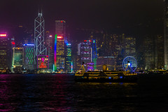 Victoria Harbour Lights (Jared Beaney) Tags: hongkong hongkongphotography asia china canon6d canon victoriaharbour symphonyoflights nightphotography nightlandscapes cruise cruising