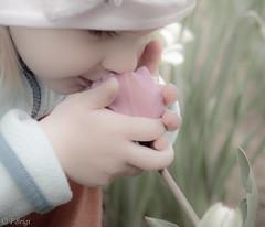 Eliza (FBrigi_photo) Tags: girl flower smell spring little littlegirl photo photography child