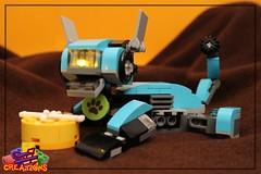 The RoboBau's Relax - 31062 MOC Evolution (EVWEB) Tags: lego moc creator evcreations dog robot bau robobau bones light brick space martian 31062